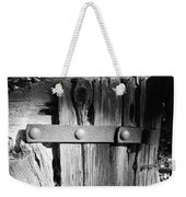 Weathered Fence In Black And White Weekender Tote Bag