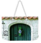 Weathered Green Door Weekender Tote Bag