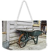 Weathered Green Wheelbarrow Weekender Tote Bag