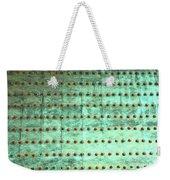 Weathered Metal Rivets With Green Patina Weekender Tote Bag