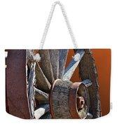 Weathered Wagon Wheel  Weekender Tote Bag