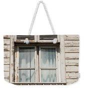 Weathered Window Balcony Weekender Tote Bag