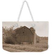 Weathered Wisconsin Barn In Sepia Weekender Tote Bag