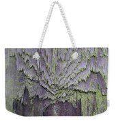 Weathered Wood And Lichen Abstract Weekender Tote Bag