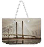 Weathering Weather At The Indian River Inlet Bridge Weekender Tote Bag