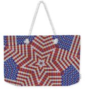 Weave A Star And Rainbow Weekender Tote Bag