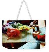 Weaving Supplies Weekender Tote Bag