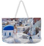 Wedding At Santorini Weekender Tote Bag
