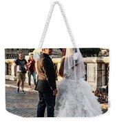 Wedding Stroll On The Ponte Sant'angelo Weekender Tote Bag
