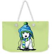 Wee Winter Westie Weekender Tote Bag