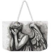 Weeping Angel Watercolor Weekender Tote Bag
