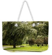 Weeping Willow Trees On Windy Day Weekender Tote Bag