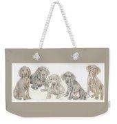 Weimaraner Puppies Weekender Tote Bag