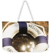 Welcome Aboard Nautical Paradise Weekender Tote Bag