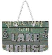 Welcome Lake House Weekender Tote Bag