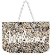 Welcome Seashell Background Weekender Tote Bag