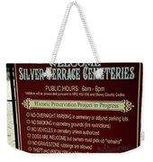 Welcome Silver Terrace Cemeteries Weekender Tote Bag