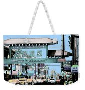 Welcome To Chinatown Sign Blue Weekender Tote Bag