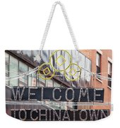 Welcome To Chinatown Sign In Manhattan Weekender Tote Bag