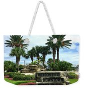 Welcome To Downtown Cocoa Beach Weekender Tote Bag