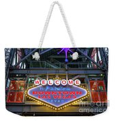 Welcome To Downtown Las Vegas Sign On Slotzilla Weekender Tote Bag