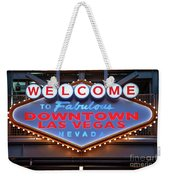 Welcome To Downtown Las Vegas Sign Slotzilla Weekender Tote Bag