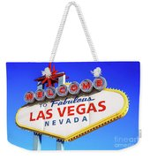 Welcome To Las Vegas Sign Only Boulder Highway Day Weekender Tote Bag