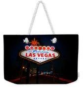 Welcome To Las Vegas Weekender Tote Bag by Steve Gadomski