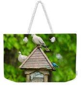 Welcome To My Bird Feeder Weekender Tote Bag