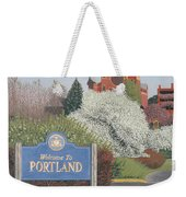 Welcome To Portland Weekender Tote Bag