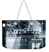 Welcome To Salzburg Weekender Tote Bag by Dave Bowman