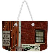 Welcome To The Main Street Of America Weekender Tote Bag