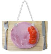 Welcome To The Minimalist Restaurant Weekender Tote Bag