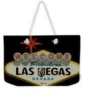 Welcome To Vegas Knights Sign Digital Drawing Weekender Tote Bag