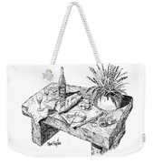 Welcoming At Le Coin Retro In Le Thor France Weekender Tote Bag