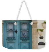 Welcoming Entrance And Strolling Cat Weekender Tote Bag