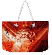 Wells Cathedral Gargoyles Color Negative D Weekender Tote Bag