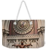 Wells Cathedral Geocentric Clock Weekender Tote Bag