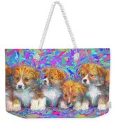 Welsh Corgi Pups Weekender Tote Bag