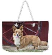 Welsh Pembroke Corgi Dog Outdoors Weekender Tote Bag