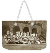 We're Up Against It,students On Steeps Of Encina Hall At Stanford University April 18,1907 Weekender Tote Bag