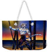 Werecat With Torch Weekender Tote Bag