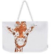 West African Giraffe Weekender Tote Bag
