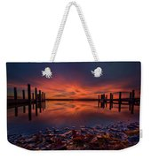 West Boat Launch Fall Sunrise Weekender Tote Bag