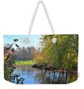West Branch Iowa River Weekender Tote Bag