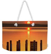 West Dnr Boat Launch July Sunrise Weekender Tote Bag