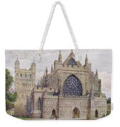 West Front, Exeter Cathedral Weekender Tote Bag