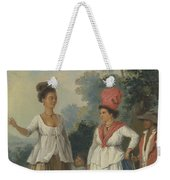 West Indian Women Of Color, With A Child And Black Servant Weekender Tote Bag
