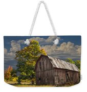 West Michigan Barn In Autumn Weekender Tote Bag
