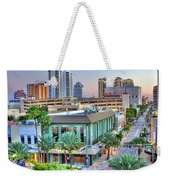 West Palm At Twilight Weekender Tote Bag